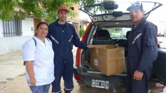 Un Día para Dar: se entregaron los alimentos en la Soc. de Fomento de barrio Valacco