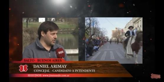 Arimay utilizó los festejos patrios del 9 de julio para hacer campaña en un programa de TV nacional