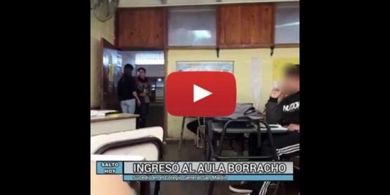 Alumno ingresó borracho y tomando cerveza al salón de clases: