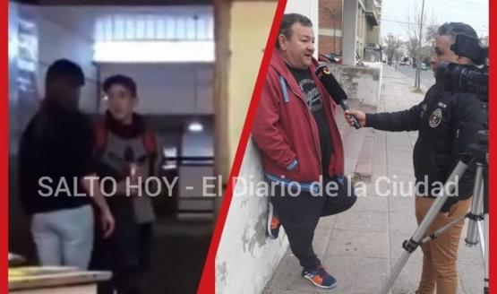 Por el joven que tomó cerveza en un salón de clases, Canal 13 llegó a Salto y otros medios internacionales replicaron el caso