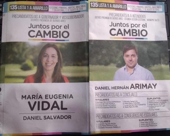 Arimay esconde a Macri en la boleta