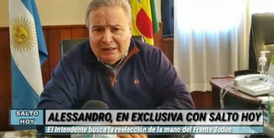 A tres días de las PASO, Alessandro habló en exclusiva con Salto Hoy