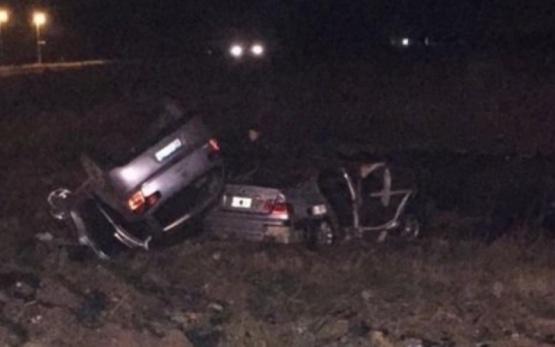 """Un segundo auto despistó y quedó """"montado"""" sobre el BMW del intendente que falleció en Ruta 6"""