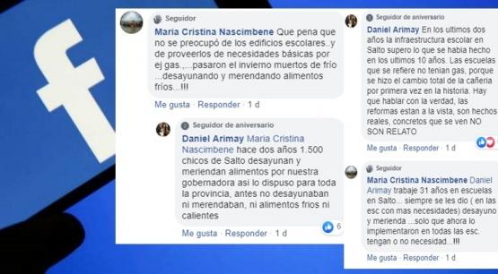 Arimay se cruzó en Facebook con una jubilada: