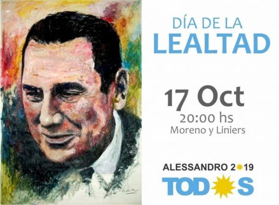 El PJ local conmemorará el Día de la Lealtad en su sede de calle Moreno y Liniers