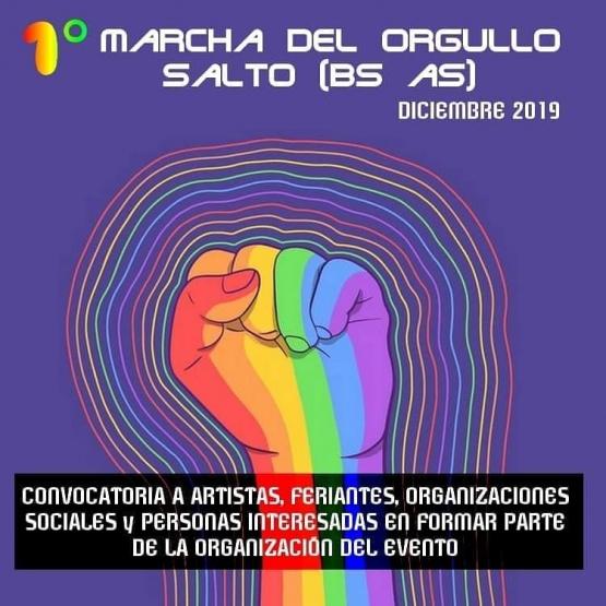 Primera marcha del Orgullo LGBTIQ en Salto: convocan a artistas, feriantes, organizaciones sociales y espacios culturales