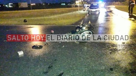 Violento accidente en la rotonda de ruta 31 y Av. Antártida Argentina