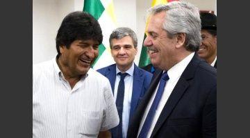 Evo Morales llegó a la Argentina