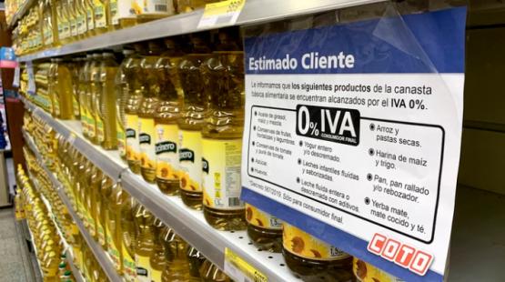 Cuáles son los alimentos que aumentan 7% por la reimplantación del IVA a la canasta básica