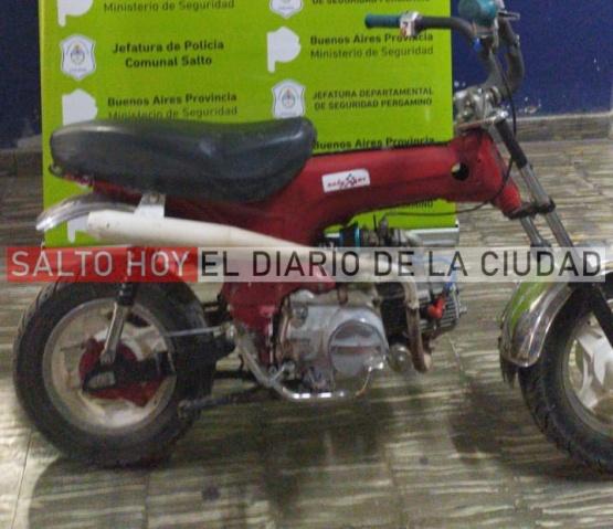 Un menor aprehendido en Gahan por el robó de una moto en Arrecifes