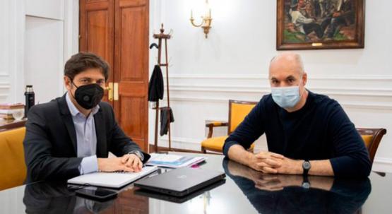 Kicillof y Rodríguez Larreta se reunieron en La Plata para discutir el futuro de la cuarentena
