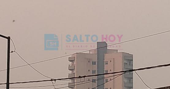 El humo originado por los incendios en el Delta del Paraná llegó a Salto y a la región