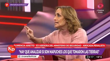 Florencia Arietto habló de la toma de tierras: