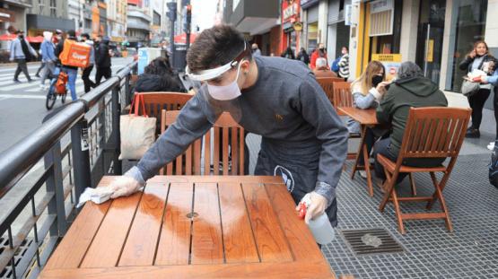 Coronavirus en la Argentina   Los bares y restaurantes porteños no podrán habilitar terrazas, patios o jardines