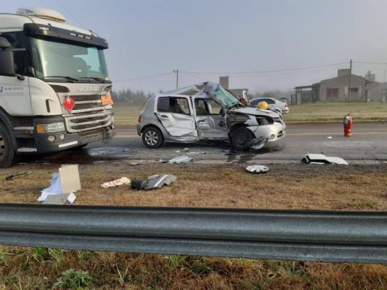 Fatal accidente en la ruta 188: murió una mujer